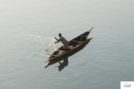 Fishing in river Niger