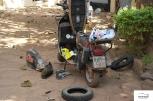 Tyre 'n' tube change