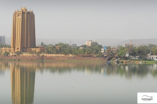 Bamako view from the old bridge