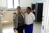 We congratulated the lady who cleans the toilets at the customs office on the borders between Zambia and D.R.C. / Εδώ συγχαίρουμε την κυρία που φροντίζει τις τουαλέτες στον τελωνειακό σταθμό στη Ζάμπια μπαίνοντας από Κονγκό.