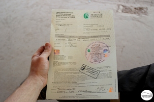 The document for the insurance was too formal... / Παρόλα αυτά είναι το πιο επίσημο και ψαρωτικό έγγραφο που βλέπουμε μέχρι στιγμής.