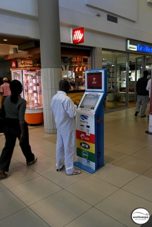 You can do anything with this machine: buy some airtime, cigarettes, coffee etc