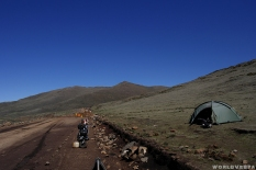After a fall in the mud, we decided to leave the vespa on the side of the road and pitch our tent there / / Μετά από μια μικρή πτώση μέσα στη λάσπη, αποφασίσαμε να αφήσουμε τη βέσπα μέσα στο δρόμο και να στήσουμε τη σκηνή ακριβώς δίπλα