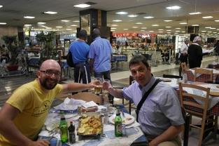 We met again with Nikos M. from Lubumbash / Συνάντηση κορυφής με τον Νίκο Μ. απ' το Λουμπουμπάσι