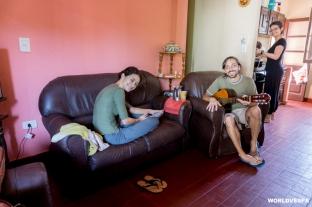 We had 2 really interesting days in Posadas (couchsurfing). / Με τον Πάμπλο και τη Μαρία (couchsurfers) περάσαμε 2 πολύ ενδιαφέρουσες μέρες στο Ποσάδας.