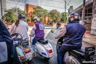 The whole vespa club of Paraguay welcomed us and showed us the best places in the city! / Όλο το βέσπα κλαμπ κινητοποιήθηκε για να μας υποδεχτεί και να μας δείξει τα καλύτερα σημεία της πόλης!