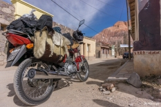 One traveler from Argentina on a Honda CX125 – Ένας Αργεντινός ταξιδιώτης με Honda CX125