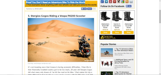worldvespa on advpulse