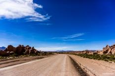 The road to Uyuni is dirt-road but almost as good as a tar road / Ο δρόμος για την πόλη Uyuni είναι χωμάτινος, αλλά σχεδόν τόσο καλός όσο ένας ασφάλτινος.